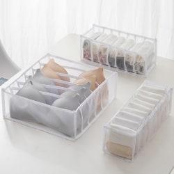 Bra Underwear Organizer Folding Home Storage Box Scarfs Socks White(7 Grid)