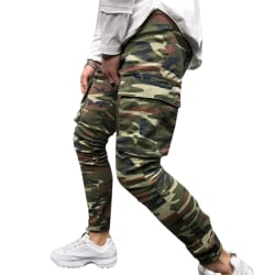 Camoufalge Men Pockets Workwear Jeans Camouflage 2XL