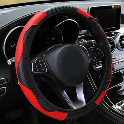 Car Auto Steering Wheel Cover Carbon Fibre Breathable Anti-slip