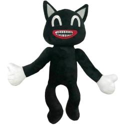 Cartoon Plush Doll Cat Siren Head Kids Gifts Soft Indoors Toys Black Cat