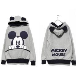 Casual Mickey Pocket Sweater light gray L