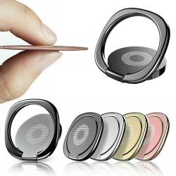 Fingerringhållare för mobiltelefon 360 Roterande stativfäste Black