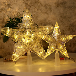 Christmas Tree Topper med LED-lampor Star Light för jul 30 Light L