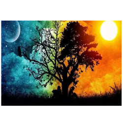 DIY 5D Full Diamond Paintings Sun Moon Landscape Wall Art Deocr