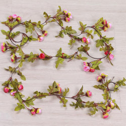 42 Flower Buds Artificial Fake Silk Rose Hanging Wedding Party Rose Red