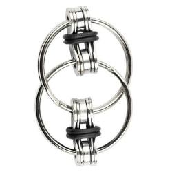 Fidget Chain Ring Finger Spinner Stress Relief Toy Black