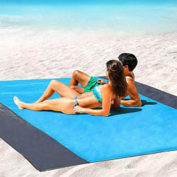 Fällbar sandfri strandmatta Yoga filtmatta 200*145