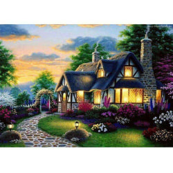 DIY 5D Huslandskap Diamond Painting Kits House 40 * 30cm 40*30cm