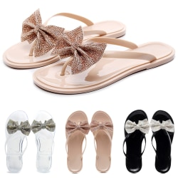 Girl Bowknot Sequin Crystal Slipper Pink 41