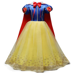Girl Snow White Cosplay Dress Costume Toddler 5-6Years