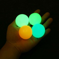 Kid Adult Toys Squeeze Fidget Ball Glowing Relax Toy Random - 4 PCS 4.5cm