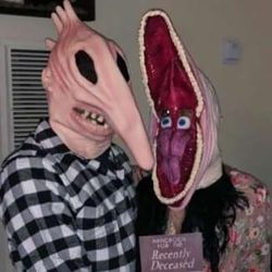 Halloween Adam Barbara Latex Full Head Mask Horror Fancy Dress Barbara