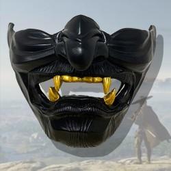 Halloween Ghost of Tsushima Sakai Mask Half Face Samurai Cosplay #1