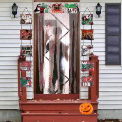 Halloween-tryckt Keep Out Doorway Curtain Door Cover Cover