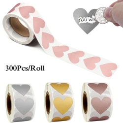 Hjärtform Etiketter Hemligt Omslag Kort Bröllops Meddelande Silver