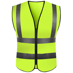 Hi Vis Safety Vest High Visibility Safety Reflective Waistcoat # 7 Yellow XL