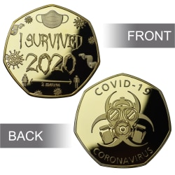 I Survived 2020 The Commemorative Silver Plated Coin D