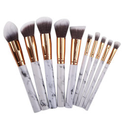 Kabuki Make up Brushes Eye Shadow Blusher Foundation Makeup Sets White 10pcs