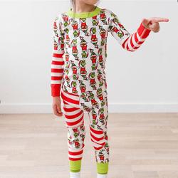 Barnpojkar Flickor Pyjamas Set Winter Christmas Sleepwear Kid