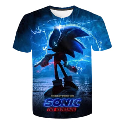 Kids Boys Girls Sonic The Hedgehog 3D T-shirt Game Gift Tee Tops C 110cm