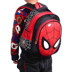 Kids Children Boys Spiderman Backpack School Book Bag Black