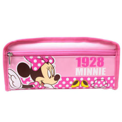 Kids Children Cartoon Pencil Case Cute Zipper Small Double layer Pink