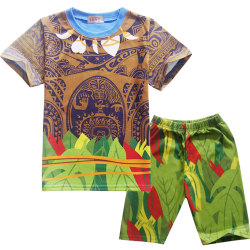 Kids Party Anime Cosplay Maui Short Sleeve Suit Light Section Costume 100cm