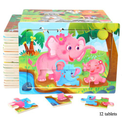 Kids Puzzle Jigsaw ABC Number Alphabet Baby Montessori Forest zoo