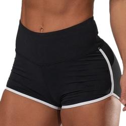 Kvinnor Gym Träningsshorts för yoga Black XL