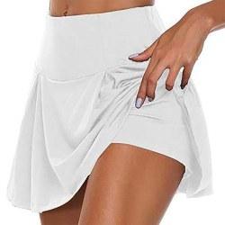 Kvinnor Yoga solida shorts med hög midja