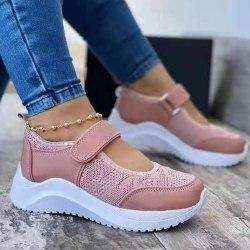 Kvinnors Löparskor Sneakers Sommar Fitness Sportskor Pink 43