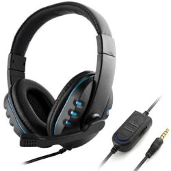 Laptoptelefonspel Datorheadset Black+blue