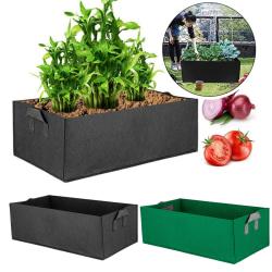Stor odlingspåse Grönsaksplanter Potatis Tomatväxtlåda Black L