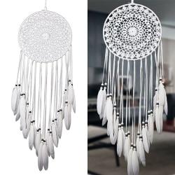 Large Knit Dream Catcher White Dreamcatcher Home Art Decor
