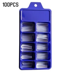 Långa Falska Naglar Akryl Konstgjorda Nagelkonst Tips Stick