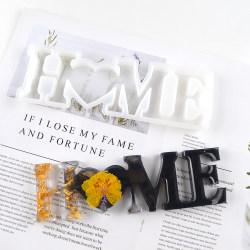 LOVE / FAMILY / HOME Hartsform Silikon Epoxy Mögel