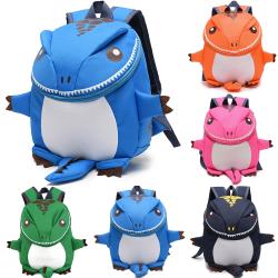 Lovely Dinosaur Child Schoolbag Baby Backpack Blue