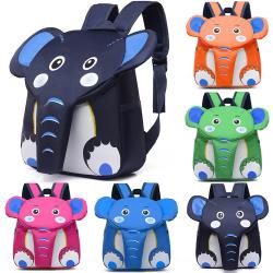 Lovely Elephant Child Schoolbag ryggsäck Deep Blue