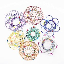 Magic Flow Ring 3D Toy Multiple Changes Flower Basket Toys Green