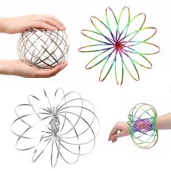 Magic Flow Ring Bracelet Toy Fun Kinetic Arm Jiggle Dance Silver