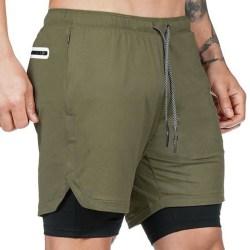 Man pants Mesh Shorts With Pockets Armg Green 3XL
