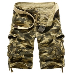 Herr Army Combat Camo Cargo Shorts Byxor Casual korta byxor