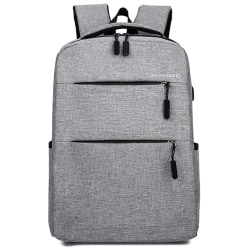 Men Bags Adults Children Zipper Casual Backpack Large-capacity Gray