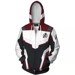Män Cosplay Anime Avengers 4 Suits Coats Hooded Zipper Jacket