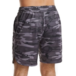 Män Baggy Camo Casual Pocket Shorts Summer Beach Hot Pants Grey XL