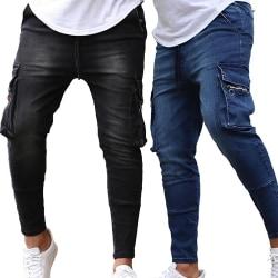 Men's Close Pocket Zip Jeans Black M