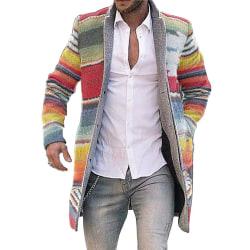 Men's jacket striped cardigan warm knitted outdoor jacket Stripe S
