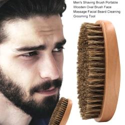 Mäns naturliga skäggborste Mustasch trähandtag skäggborste