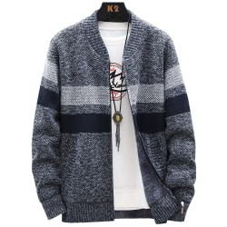Men's sweater, winter thick warm hooded cardigan for men Deep grey XL
