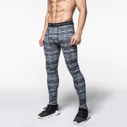 Herr Sports Leggings Fitnessbyxor Camo Gym Byxor Grey Line